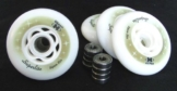 4er Set HYPER SUPERLITE 84mm / 82a + 8er Set Kugell. ABEC 7 - 1