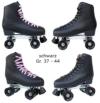 Echtleder Rollschuhe / Discoroller schwarz mit Stopper Gr. 37 - 44 in Top Qualität (schwarz - 41) - 1