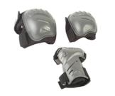 Hudora Biomechanisches Protektorenset, schwarz/grau, Gr. S, 83029 - 1