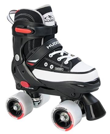 Hudora Jungen Rollschuhe Roller Skate, schwarz, verstellbar Gr. 32-35, schwarz, 32-35, 22031 - 1