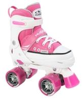 Hudora Mädchen Rollschuhe Roller Skate, pink, verstellbar Gr. 32-35, pink, 32-35, 22034 - 1