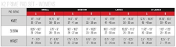 K2 Damen Schoner Prime Pad Set, schwarz/grün, L, 3041601.1.1 - 2